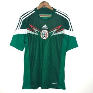 Adidas 2014 World Cup Green Mexico Soccer Jersey